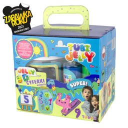 TUBI JELLY SET WITH 3 COLORS AND SMALL AQUARIUM - NUMBERS