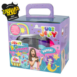TUBI JELLY SET WITH 6 COLORS AND SMALL AQUARIUM - MERMAID